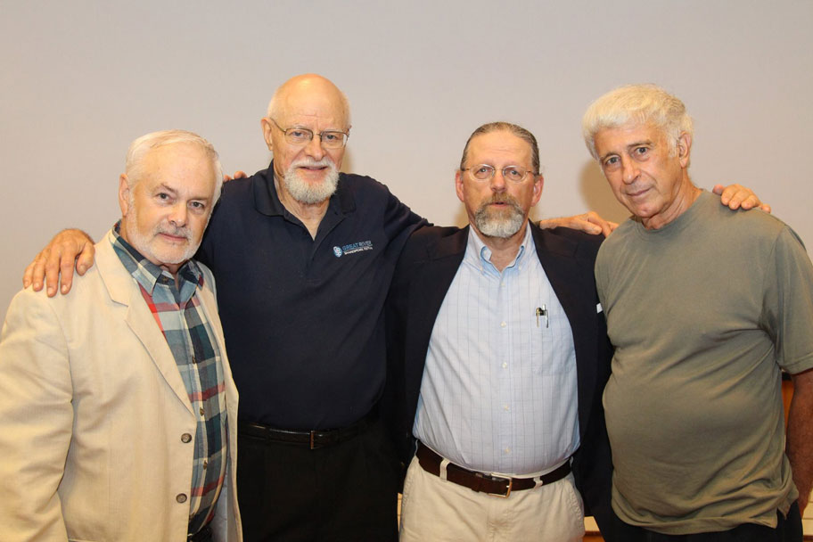 From left: Ken McCullough, Ted Haaland, Jim Armstrong, and Emilio DeGrazia